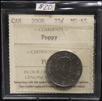 2008 CIRCULATION 25-CENT COIN - POPPY - MS-65