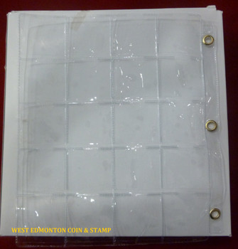 20-POCKET PAGE - METAL EYELITS - FOR 2X2 HOLDERS