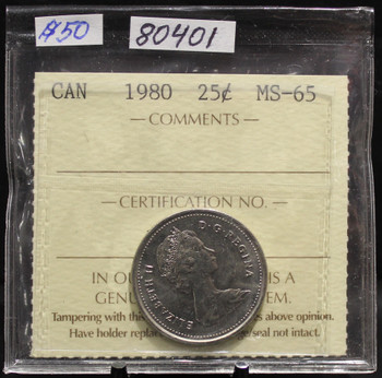 1980 CIRCULATION 25-CENT COIN - MS-65