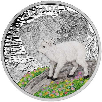 SALE - 2015 $20 FINE SILVER COIN BABY ANIMALS - MOUNTAIN GOAT