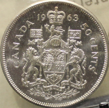 1963 CIRCULATION 50-CENT COIN - MS-64