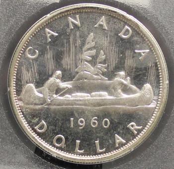 1960 CIRCULATION $1 COIN - CAMEO - HEAVY CAMEO - PL-66