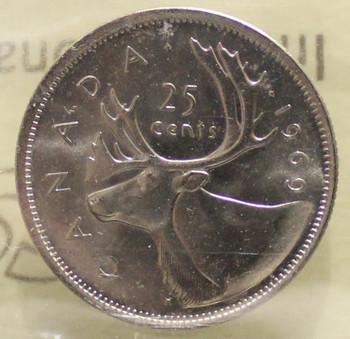 1969 CIRCULATION 25-CENT COIN - MS-65
