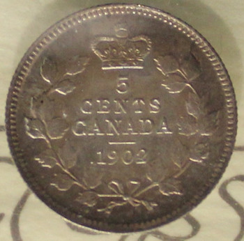 1902 CIRCULATION 5-CENT COIN - MS-64
