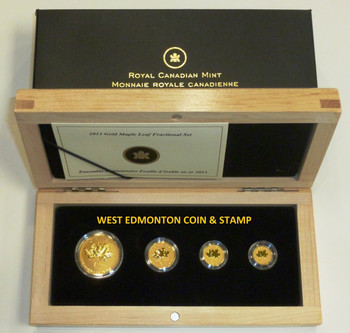 2013 FINE GOLD MAPLE LEAF - 25TH ANNIVERSARY FRACTIONAL SET