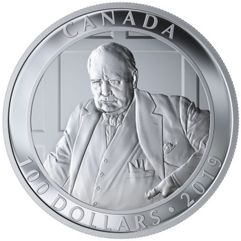 2019 $100 FINE SILVER COIN YOUSUF KARSH: THE ROARING LION