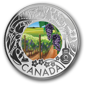 2019 $3 FINE SILVER COIN CELEBRATING CANADIAN FUN AND FESTIVITIES – WINE TASTING