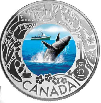2019 $3 FINE SILVER COIN CELEBRATING CANADIAN FUN AND FESTIVITIES – WHALE WATCHING