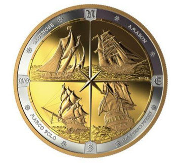 2019 $125 FINE SILVER COIN TALL SHIPS OF CANADA