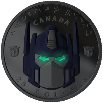 2019 $25 FINE SILVER COIN TRANSFORMERS: OPTIMUS PRIME - LIMITED RUN SIGNED BY PETER CULLEN