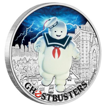 Ghostbusters™ - Stay Puft 2017 1oz Silver Coin - Perth Mint