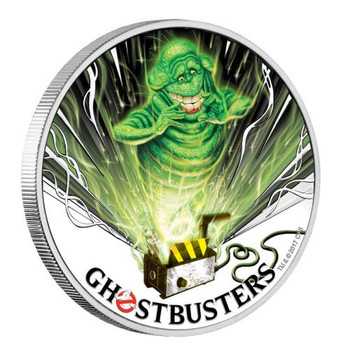 Ghostbusters™ - Slimer 2017 1oz Silver Coin - Perth Mint