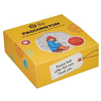 PADDINGTON BEAR - Paddington™ at the Station 2018 UK 50p Silver Proof Coin Silver Proof Coin - Royal Mint