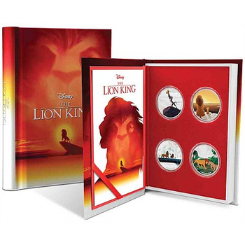 The Lion King 4x1oz Silver Coin Set