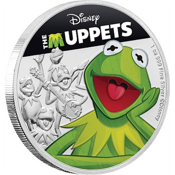 Disney: The Muppets - Kermit The Frog 1oz Silver Coin