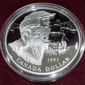 1995 PROOF COMMEMORATIVE SILVER DOLLAR - HUDSON'S BAY COMPANY 325TH ANNIVERSARY