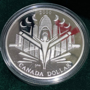 2000 PROOF SILVER DOLLAR - VOYAGE OF DISCOVERY