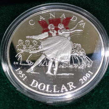 2001 PROOF SILVER DOLLAR - 1951 NATIONAL BALLET
