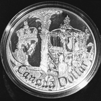 2002 PROOF SILVER DOLLAR - QUEEN'S GOLDEN JUBILEE