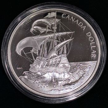 2004 PROOF SILVER DOLLAR - 400TH ANN. OF THE FIRST FRENCH SETTLEMENT IN NORTH AMERICA