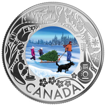 2019 $3 FINE SILVER COIN CELEBRATING CANADIAN FUN AND FESTIVITIES – CHRISTMAS TREE