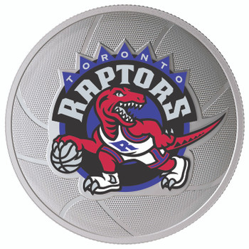 2020 $25 FINE SILVER COIN TORONTO RAPTORS 25TH SEASON