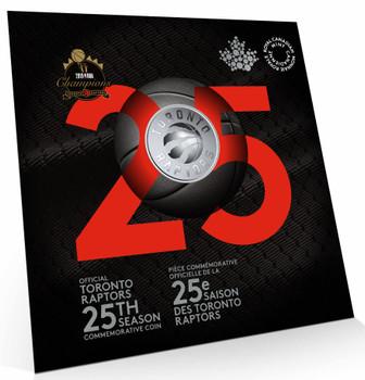 2020 25-CENT COIN TORONTO RAPTORS 25TH SEASON