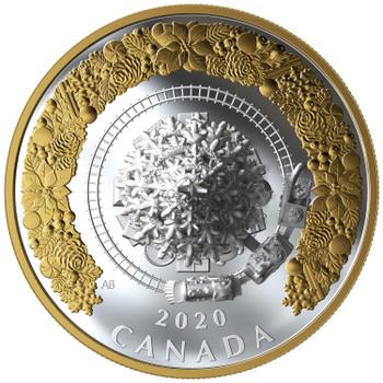 2020 $50 FINE SILVER COIN CHRISTMAS TRAIN