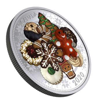 2020 $20 FINE SILVER COIN HOLIDAY COOKIES MURANO GLASS GINGERBREAD