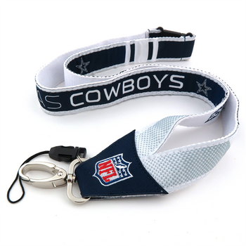 DALLAS COWBOYS NFL WOVEN LANYARD - NEW WITH TAGS