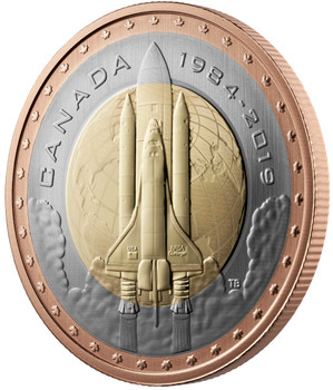2019 25-CENT COIN FIRST CANADIAN IN SPACE