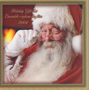 SALE - 2004 HOLIDAY GIFT SET - COLOURIZED SANTA CLAUS QUARTER - FIRST IN SERIES