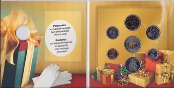 SALE - 2006 HOLIDAY GIFT SET WITH COLOURIZED SLEIGH QUARTER
