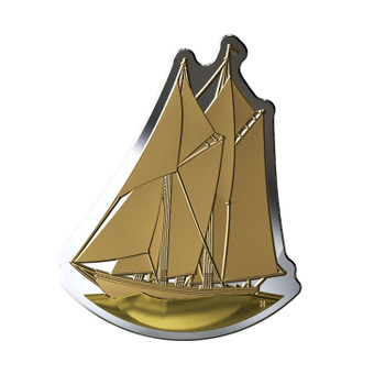 2020 $50 FINE SILVER COIN REAL SHAPES: THE BLUENOSE