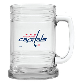 WASHINGTON CAPITALS NHL 15OZ  MARITIME STYLE CLEAR GLASS MUG
