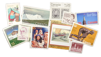 COLLECTIBLE CANADIAN STAMPS - $5 BUNDLE