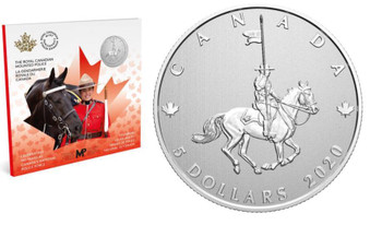 2020 $5 FINE SILVER COIN MOMENTS TO HOLD: CELEBRATING 100 YEARS OF THE RCMP AS CANADA'S NATIONAL POLICE FORCE