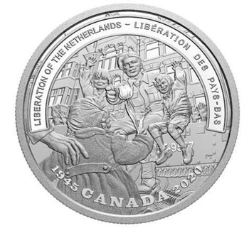 2020 $20 FINE SILVER COIN SECOND WORLD WAR: BATTLEFRONT SERIES THE LIBERATION OF THE NETHERLANDS