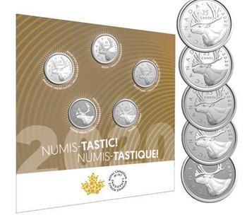 2020 5-COIN SET NUMIS-TASTIC! SET