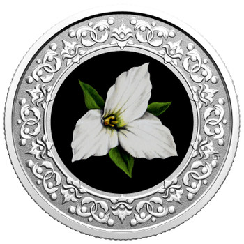 2020 $3 FINE SILVER COIN FLORAL EMBLEMS OF CANADA - ONTARIO: WHITE TRILLIUM