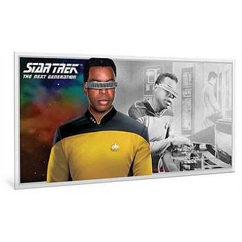 Star Trek: The Next Generation - Geordi La Forge 5g Pure Silver Coin Note