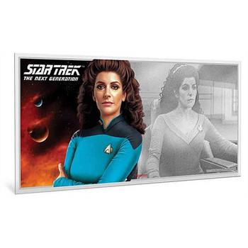 Star Trek: The Next Generation - Deanna Troi 5g Pure Silver Coin Note
