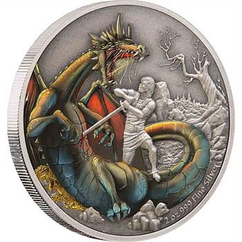 Dragons - The Norse Dragon 2oz Silver Coin
