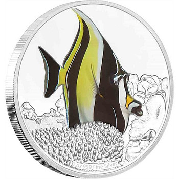 Reef Fish - Moorish Idol 1oz Silver Coin