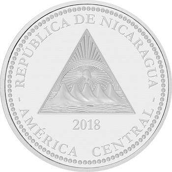 尼加拉瓜野生动物美洲虎盎司银币