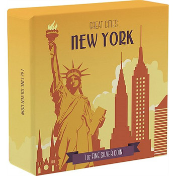 Great Cities - New York 1 Oz Silver Coin