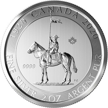 2020 2 oz. ROYAL CANADIAN MOUNTED POLICE SML COIN