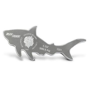 2020 1 oz. PURE SILVER COIN - TIGER SHARK