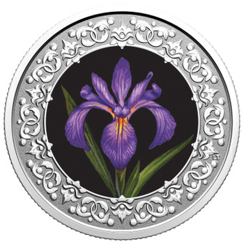 2020 $3 FINE SILVER COIN FLORAL EMBLEMS OF CANADA - QUEBEC: BLUE FLAG IRIS