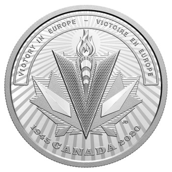 2020 $20 FINE SILVER COIN SECOND WORLD WAR: BATTLEFRONT SERIES - VICTORY IN EUROPE